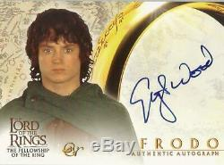 Lord of the Rings Fellowship FOTR Elijah Wood Frodo Autograph Card