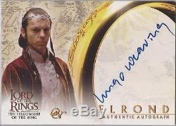 Lord of the Rings Fellowship (& Hobbit) Hugo Weaving Elrond Autograph Card