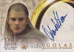Lord of the Rings Fellowship (& Hobbit) Orlando Bloom Legolas Autograph Card