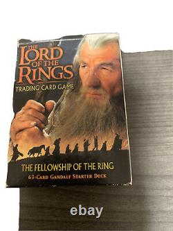 Lord of the Rings Fellowship Of The Ring 63 card Gandalf Deck Trading Card Game