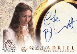 Lord of the Rings Fellowship of the Ring Cate Blanchett as Galadriel Auto Card