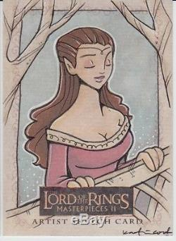 Lord of the Rings II LOTR 1/1 ARWEN Artist Sketch by the fabulous KATIE COOK