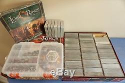 Lord of the Rings LCG Card Game MEGA COLLECTION Lot, Premium Inserts + Sleeves