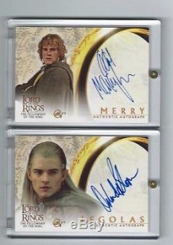 Lord of the Rings LOTR Fellowship AUTO autograph Dominic Monaghan as Merry