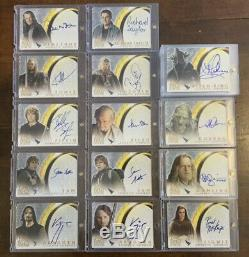 Lord of the Rings LOTR Huge Lot & Collection Autograph Cards Aragorn & More RARE