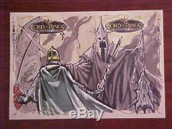 Lord of the Rings LOTR Topps Evolution Eowyn vs Witch King Dual Sketch Hodges