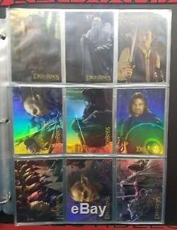 Lord of the Rings LOTR Topps Trading Card Rare Binder & 220+ cards
