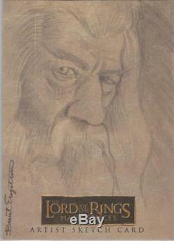 Lord of the Rings Masterpieces Brent Engstrom Gandalf Sketch Card