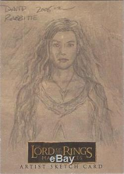Lord of the Rings Masterpieces David Rabbitte Arwen Sketch Card