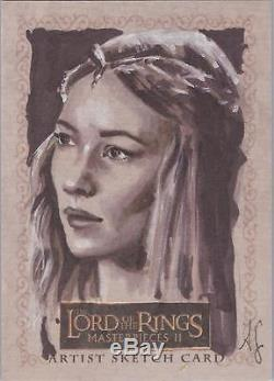 Lord of the Rings Masterpieces II Allison Sohn Galadriel Sketch Card