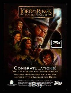 Lord of the Rings Masterpieces II Artist Sketch Trading Card by Josh Howard