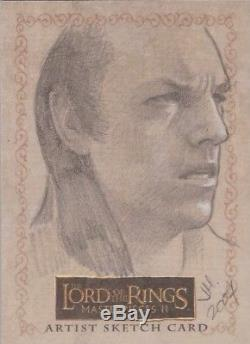 Lord of the Rings Masterpieces II Ingrid Hardy Elrond Sketch Card