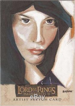 Lord of the Rings Masterpieces II Kyle Babbitt Arwen Sketch Card