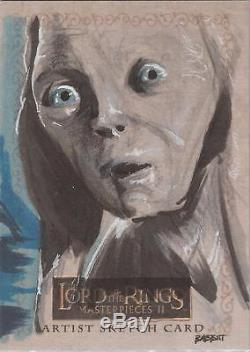 Lord of the Rings Masterpieces II Kyle Babbitt Gollum Sketch Card