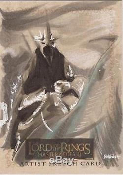 Lord of the Rings Masterpieces II Kyle Babbitt Witch King Sketch Card