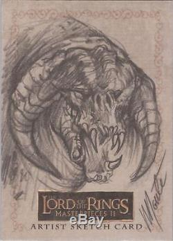 Lord of the Rings Masterpieces II Monte Moore Balrog Sketch Card