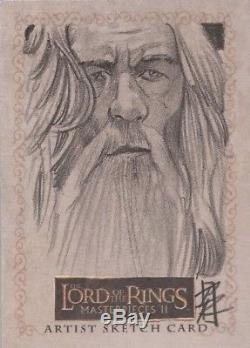 Lord of the Rings Masterpieces II Patrick Richardson Gandalf Sketch Card