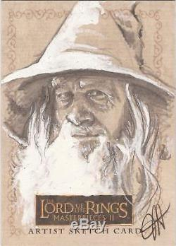 Lord of the Rings Masterpieces II RARE Jess Hickman Gandalf Sketch Card