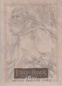 Lord of the Rings Masterpieces II Ray Lago Gandalf Sketch Card (b)