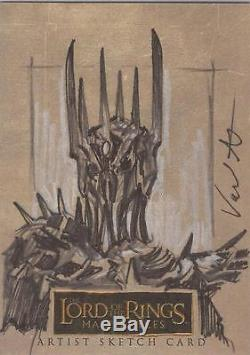Lord of the Rings Masterpieces Jerry Vanderstelt Witch-King Sketch Card