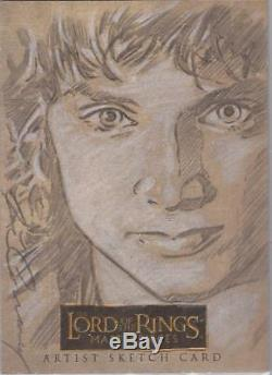Lord of the Rings Masterpieces Joe Corroney Frodo Sketch Card