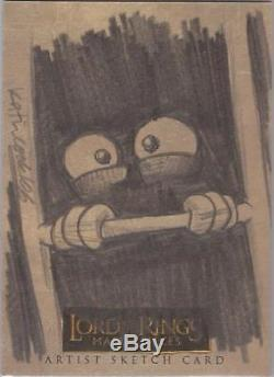 Lord of the Rings Masterpieces Katie Cook Gollum Sketch Card