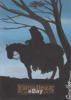Lord of the Rings Masterpieces Kevin Graham Nazgul on Steed Sketch Card