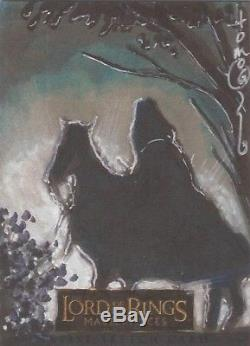 Lord of the Rings Masterpieces Tom Hodges Nazgul on Steed Sketch Card