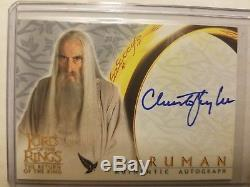 Lord of the Rings Return of the King Christopher Lee autograph Samuran card