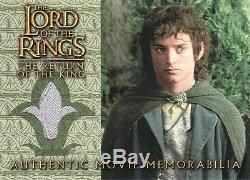 Lord of the Rings Return of the King Frodo's Grey Havens Vest Costume Card LotR