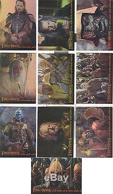 Lord of the Rings Return of the King Hobby Japan set of 10 Prismatic Foil Cards