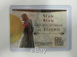 Lord of the Rings SEAN BEAN Boromir Authentic AUTOGRAPH Card FotR Topps