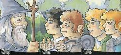 Lord of the Rings Sketch Card Panel Commissioned by Amy Pronovost 3 Cards