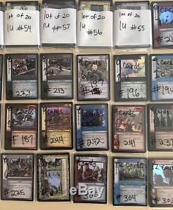 Lord of the Rings TCG (40 Card Lots) 420+ FOIL Cards M/NM Un/Common Mixed- #3