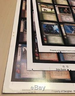 Lord of the Rings TCG Lot of 3 uncut sheets Hunters Fellowship T&D Rare Uncommon