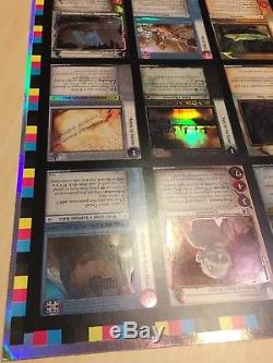 Lord of the Rings TCG Uncut FOIL Sheet Reflections (9R 9R+)