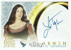 Lord of the Rings The Return of the King ROTK Autograph Card Liv Tyler as Arwen