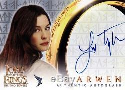 Lord of the Rings The Two Towers Liv Tyler as Arwen Auto Card LotR