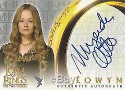 Lord of the Rings The Two Towers TTT Miranda Otto Eowyn Autograph Card