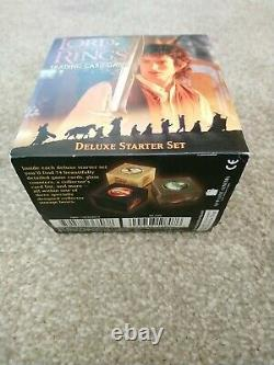 Lord of the Rings Trading Card Game Deluxe Starter Set Fellowship Ring Complete