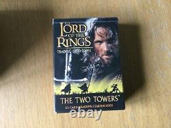 Lord of the Rings Trading Card Game Deluxe Starter Set + Two Towers Aragorn deck