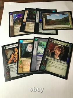 Lord of the Rings Trading Card Game Lot of Foils 29 Rares, 8 C&U