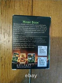 Lord of the Rings Trading Card Game TCG Mount Doom Frodo Starter Deck Tolkien