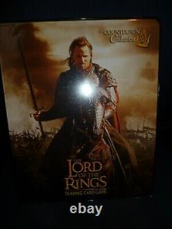 Lord of the Rings Trading Card Game card binder with 4 cards unused