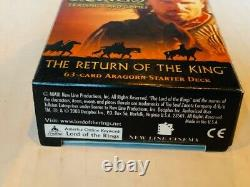 Lord of the Rings Trading Card Game deck set SEALED New Return King Aragorn 63