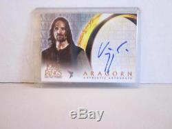 Lord of the Rings Two Towers Aragorn Autograph Card Viggo Mortensen 2002 Topps