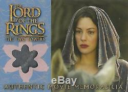 Lord of the Rings Two Towers Arwen's Requiem Cloak Memorabilia Costume Card