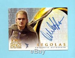 Lord of the Rings Two Towers Legolas Orlando Bloom Autograph Auto
