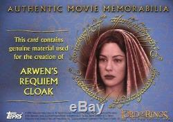Lord of the Rings Two Towers Update Arwen's Requiem Cloak Costume Card