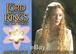Lord of the Rings Two Towers Update Galadriel's Silk Chiffon Costume Card